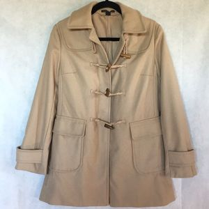 The GAP mid length pea coat camel color sizesmall